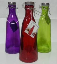 colored dark glass storage bottles with lids from Walmart.jpg