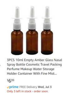 nasal spray bottles on amazon