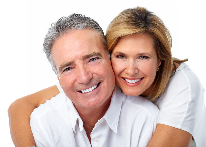 Happy smiling couple - colloidal silver for daily dental routine