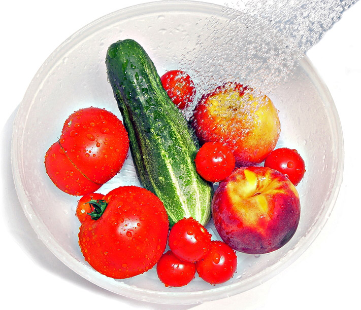 Washing Fruits and Vegetables with Colloidal Silver
