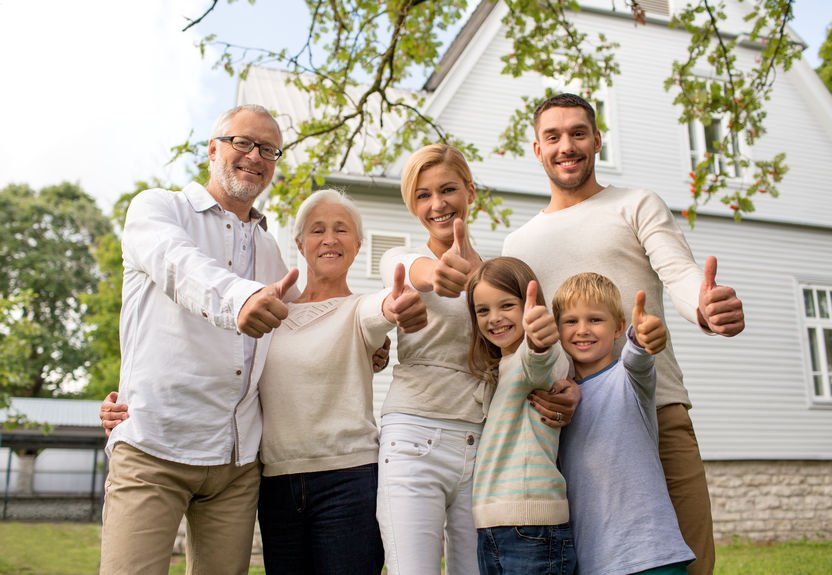 happy family in front of house outdoors - Colloidal Silver: A Powerful Weapon Against Sepsis