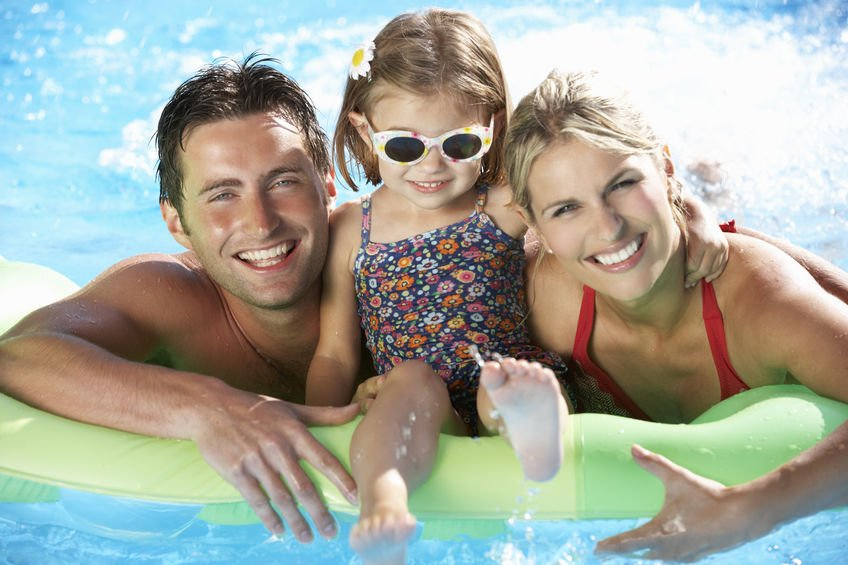 Using Colloidal Silver in Hot Tubs & Swimming Pools - Family On Holiday In Swimming Pool