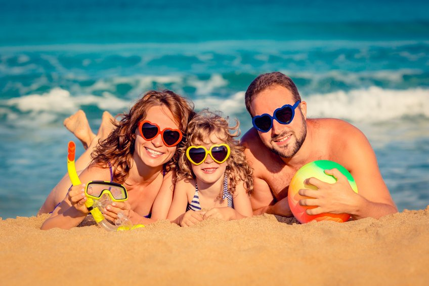 """Family at the beach - Can Nanosilver Prevent Skin Cancer? Studies Indicate """"Yes!"""""""