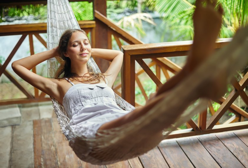 Young woman relaxing in hammock - Your Stories: Phenomenal Healing from Psoriasis with Colloidal Silver